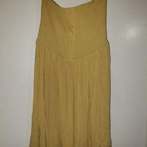 Light Golden Yellow - •F21•  Smocked - Woven Dress